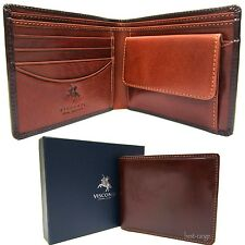 Bifold Wallet Real Leather Brown Tan New in Gift Box Visconti (TR30)