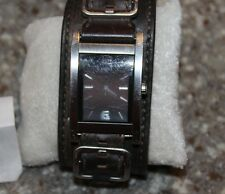 GUESS 66391G Brown Leather Cuff Watch for Men F79-D