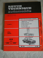 Revue Technique automobile No301 BMW 1600 and 2000  French workshop style 70s