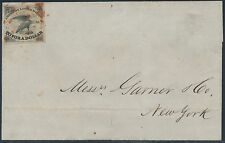 #5L1 ON FOLDED LETTER GOING TO NEW YORK CITY CV $450 BS183