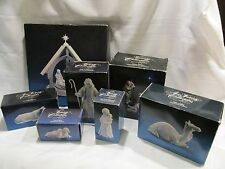 9 PIECE AVON NATIVITY IN GREAT SHAPE!!! NO CHIPS OR CRACKS - IN BOXES CAMEL COW