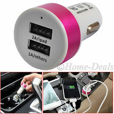 Dual 2 Port USB 2.0 Car Charger Adapter 2A 1A Cigarette Lighter Socket Universal