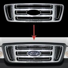 04-08 Ford F150 CHROME Snap On Grille Overlay Front Grill Bar Covers Trim Insert