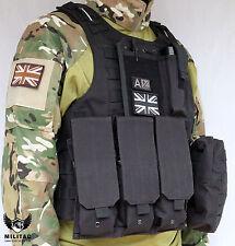 Black Tactical Vest. Airsoft /Paintball Molle Combat Assault Vest /Military Vest