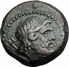 THESSALONICA in MACEDONIA 187BC Poseidon Trident Galley RARE Greek Coin i55675