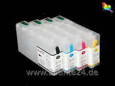 CISS CARTUCCE RICARICABILI 4 COMPATIBILI PER EPSON WORKFORCE PRO wp-4525 4540 x4