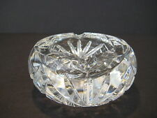 "Vintage American Brilliant Cut Crystal Glass Small Ashtray 4"" D X 1 3/4"" H"