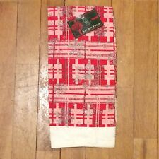 Sultan's Linens Red Plaid Snowflakes Kitchen Towel - Christmas