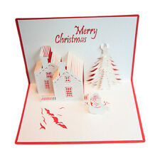 Superior Merry Chirmas Holiday Greeting Card Foldable Christmas Card Postcard YX