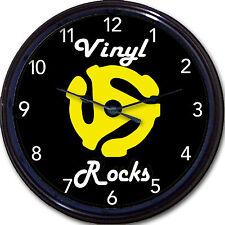 """Vinyl Record 45 RPM Insert Adapter Wall Clock Vinyl Rocks New 10"""""""