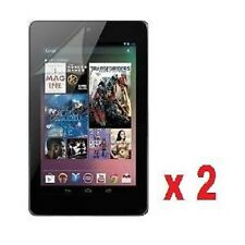 2 X Google Nexus 7 Clear LCD Screen Protectors & Clean Cloth