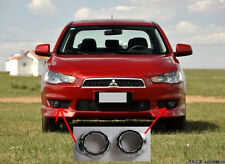 Chrome Front Fog Light Cover Trim for 2008-2014 Mitsubishi Lancer