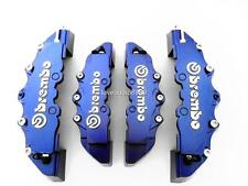 NEW 3D STYLE DARK BLUE BREMBO LOOK DISC BRAKE CALIPER COVERS FRONT & REAR 4 PCS