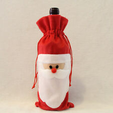 Santa Claus Outfit Christmas Wine Bottle Bag Cover XMAS Gift Table Decoration 1X