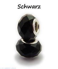 2 oder 5 Facettierte Perlen / Beads aus Glas 14 x 8 mm verschiedene Farben