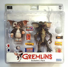GREMLINS EXCLUSIVE 2 PACK GIZMO & STRIPE figures by Neca
