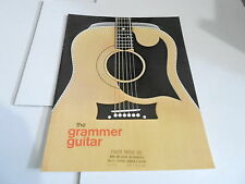 VINTAGE MUSICAL INSTRUMENT CATALOG #10651 - 1970s GRAMMER GUITAR