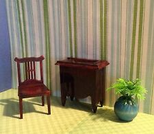 VINTAGE DOLL HOUSE FURNITURE -- Ideal Sewing Machine & Jaydon Chair