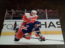 BRENDAN SMITH AUTOGRAPHED RED WINGS 8X10 PHOTO W/COA