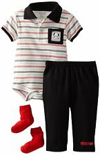 AUTH.BNWT RENE ROFE Baby-Boys Newborn Watch Me Go 3 Piece Pant Set (6-9 MOS.)$30