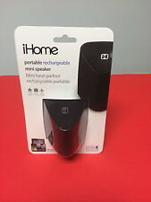 IHOME PORTABLE RECHARGEABLE SPEAKER IHM64BC BLACK UP TO 10HRS PLAY TIME