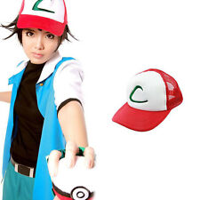 US - Pokemon Pocket Monster Ash Ketchum Baseball Trainer Cap Cosplay Hat Costume