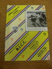 21/09/1991 Rugby Union Programme: Liverpool St Helens v Wakefield (folded, team