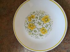 "Corelle April yellow flowers 8 1/2"" luncheon plates Set Of 3 Very nice"