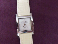 LADIES SKAGEN SILVER TONE WINTER WHITE LEATHER WATCH BAND MF# 528SSLC8A ORG. $95