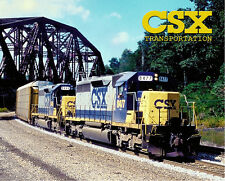 CSX SD40-2 Sturdy Metal Sign Logo Photo