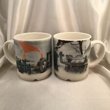 2 Arabia Finland METSO ~ Pair Of Mugs ~ Advertising ~ Perfect Unused Condition