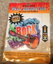 NEW Rock Star Party Giant 5 piece Scene Setter Wall Decoration Supply Birthday