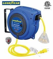 NEW Goodyear Heavy Duty Extension Cord Reel, 40 ft., 14AWG/3C SJTOW, Triple Tap