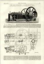 1890 100 Horses Gas Engine Malandrin Powell Rule Torpedo Boat Cushing
