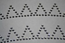 2 Pennants Clear Diamond Rhinestone Gemstone Scrapbooking Stickers Sports 641