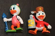 "Disney Ducktales PVC Figure Lot of 2 Toys Webby & Huey Duck Girl Map 2"" Diver"