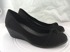 "Dexflex by Dexter • 2.5"" Wedge Heel • Black Loafer Flats • Women's Size 11"