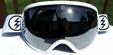 NEW $160 Electric EG2 Adult winter snow ski White Goggles Spy Chrome Mirror Lens