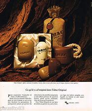 PUBLICITE ADVERTISING 055  1976  TABAC ORIGINAL  coffret savon ligne toilette ho