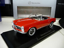 Mercedes 230SL 280SL Convertible W113 red with Hardtop  Norev 1:18 FREE SHIPPING