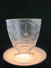 """EAPG FOOTED CLEAR PATTERN GLASS 5"""" OPEN SUGAR BOWL"""
