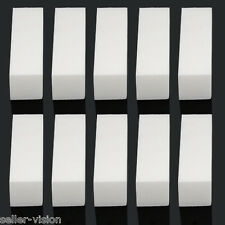 10 x Pro Womens Acrylic Nail Art Tips Buffer Buffing Sanding Block Files White