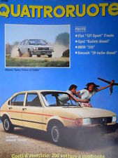 Quattroruote 319 1982 Nuova Alfasud Junior. Prove Fiat 127 Sport, BMW 315 [Q101]