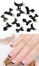 500 Pcs French False Acrylic Nail Art Tips Black Decoration Manicure UV Gel New