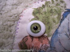 OvAL GLaSs EyEs 6MM GrEeN ReBoRn DoLL Or OOAK ~ REBORN DOLL SUPPLIES