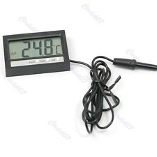Auto Car LCD Digital Display Thermometer Temperature Measure & Clock ST2