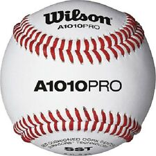 Wilson A1010PRO High School/College Level NFHS Stamped Baseballs (1 dozen)