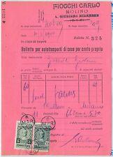 ITALIA REGNO:  BOLLETTA AUTOTRASPORTI con marca da bollo TASSA DI TRASPORTO 1940