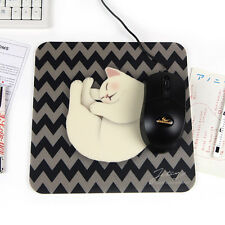 Jetoy Choo Cute Sleeping White Kitty Mouse Pad Room Desk Decoration for girls