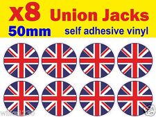8 round union jack decal stickers self adhesive vinyl jdm Euro Drift vw car van